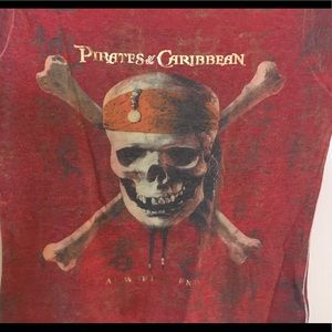 Disneys Pirates Caribbean red skull ship top Small